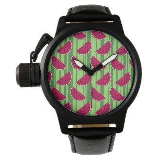 スイカはパターンをくさびで留めます 腕時計