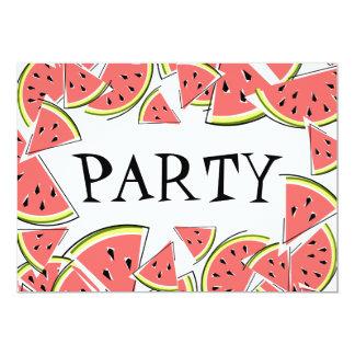スイカはパーティの招待状を継ぎ合わせます カード
