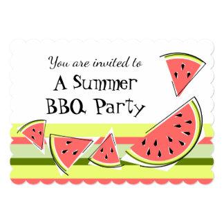 スイカは夏BBQのストライブ柄を継ぎ合わせます カード