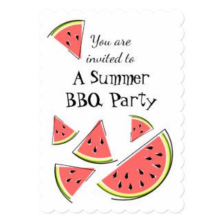 スイカは夏BBQの垂直を継ぎ合わせます カード