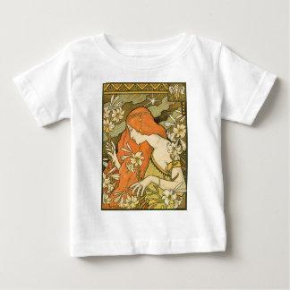 スイカズラの分野のフランスのな新しいのピンナップの女の子 ベビーTシャツ