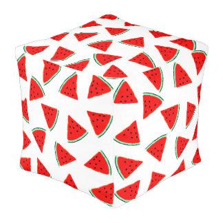 スイカパターン三角形 プーフ