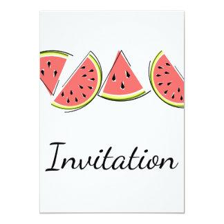 スイカライン招待の垂直 カード