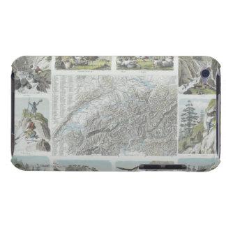 スイスのアルプスの地図そしてヴィグネット Case-Mate iPod TOUCH ケース