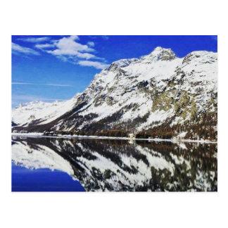 スイスのアルプスの郵便はがき ポストカード
