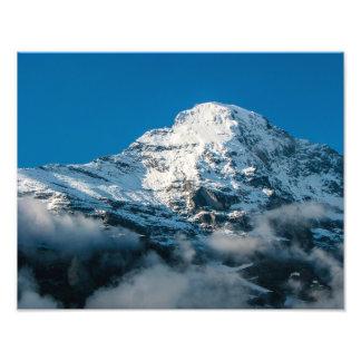 スイスのアルプスのJungfrau山-写真のプリント フォトプリント