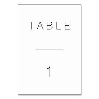 スイスのモダンなテーブル数 カード