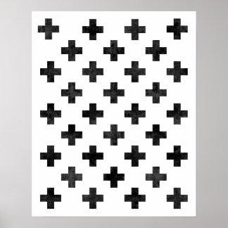 スイスの十字パターン芸術のプリントのモダンのミニマリスト ポスター