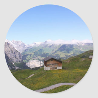 スイスの家およびアルプス ラウンドシール
