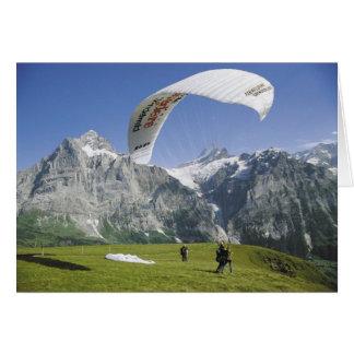スイスの挨拶状、Grindelwaldのパラグライダー カード