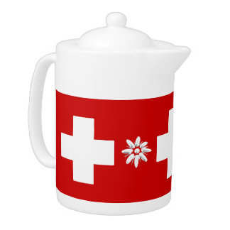 スイスの旗およびedelweiss