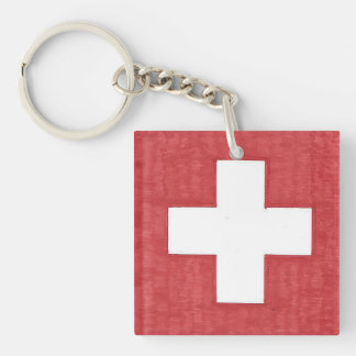 スイスの旗のアクリルのkeychain キーホルダー