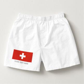 スイスの旗のボクサーは男性へ下着をショートさせます ボクサー