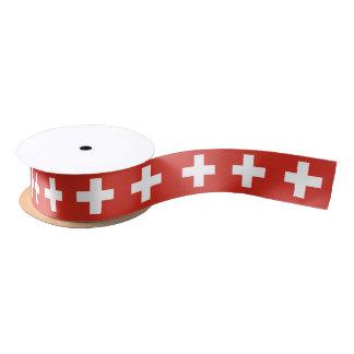 スイスの旗のリボン サテンリボン