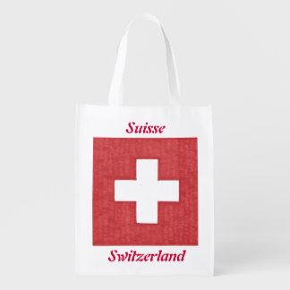 スイスの旗の再使用可能な買い物袋 エコバッグ