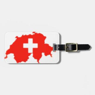 スイスの旗の地図 ラゲッジタグ