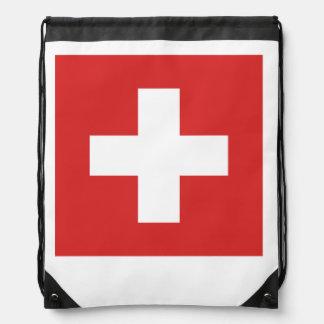 スイスの旗 ナップサック