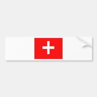 スイスの旗 バンパーステッカー
