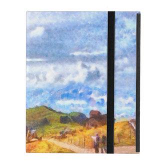 スイスの景色で出て行くこと iPad ケース