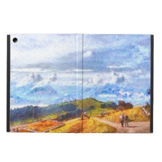 スイスの景色で出て行くこと iPad AIRケース