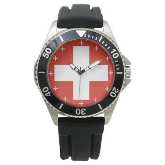 スイスの空軍Roundelのカスタムな腕時計 腕時計