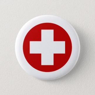 スイスの赤十字の緊急の回復Roundell 5.7cm 丸型バッジ