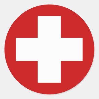スイスの赤十字の緊急事態Roundell ラウンドシール