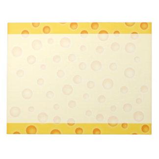スイスチーズのCheezyの質パターン ノートパッド