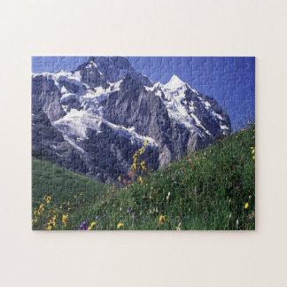 スイス人のJungfrau山 ジグソーパズル