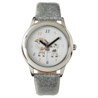 スイス牛子供のグリッターの腕時計 腕時計