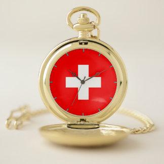 スイス連邦共和国のが付いている愛国心が強い壊中時計 ポケットウォッチ