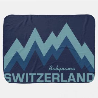スイス連邦共和国のカスタムのベビーブランケット ベビー ブランケット