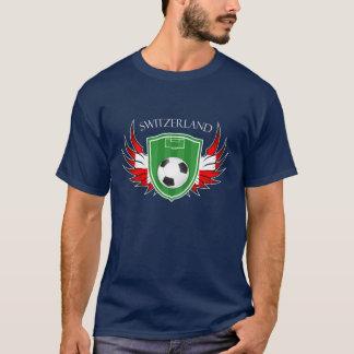 スイス連邦共和国のサッカーボールのフットボール Tシャツ