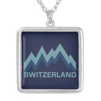 スイス連邦共和国のネックレス シルバープレートネックレス