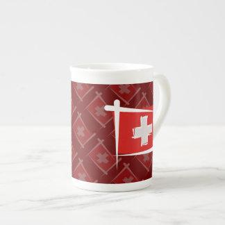 スイス連邦共和国のブラシの旗 ボーンチャイナカップ