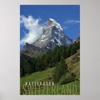 スイス連邦共和国のマッターホルン ポスター
