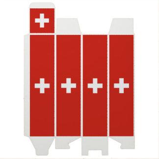 スイス連邦共和国のワイン用化粧箱の旗 ワインギフトボックス