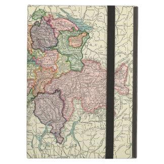 スイス連邦共和国のヴィンテージのスイスの地図のiPadの空気箱