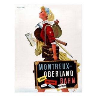 スイス連邦共和国のヴィンテージ旅行ポスター ポストカード