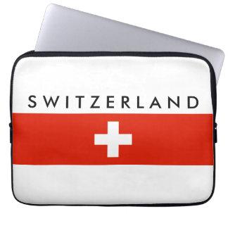 スイス連邦共和国の国旗のスイスの国家の記号 ラップトップスリーブ