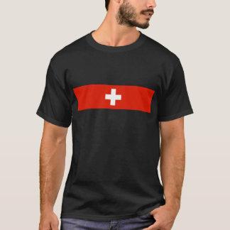 スイス連邦共和国の国旗のスイスの国家の記号 Tシャツ