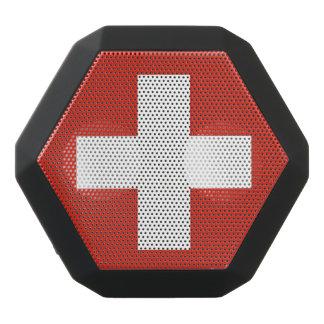 スイス連邦共和国の国旗 ブラックBluetoothスピーカー