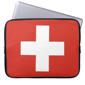 スイス連邦共和国の国旗 ラップトップスリーブ