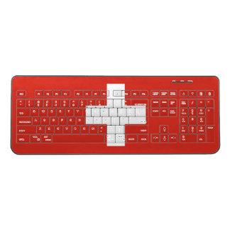 スイス連邦共和国の国旗 ワイヤレスキーボード