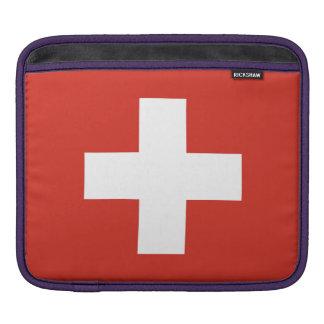 スイス連邦共和国の国旗 iPadスリーブ