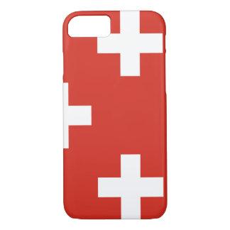 スイス連邦共和国の国旗 iPhone 8/7ケース