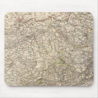 スイス連邦共和国の地図書の地図 マウスパッド