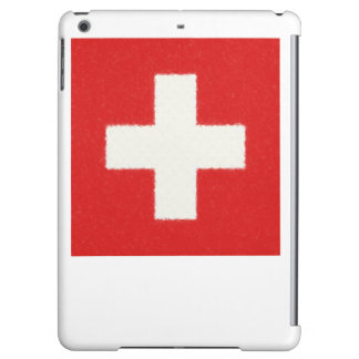 スイス連邦共和国の旗の油絵