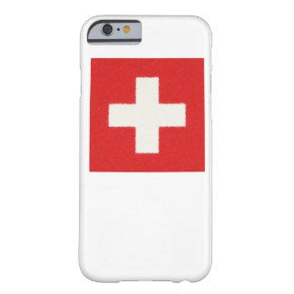 スイス連邦共和国の旗の油絵 BARELY THERE iPhone 6 ケース