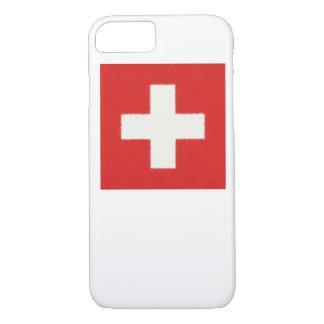 スイス連邦共和国の旗の油絵 iPhone 8/7ケース